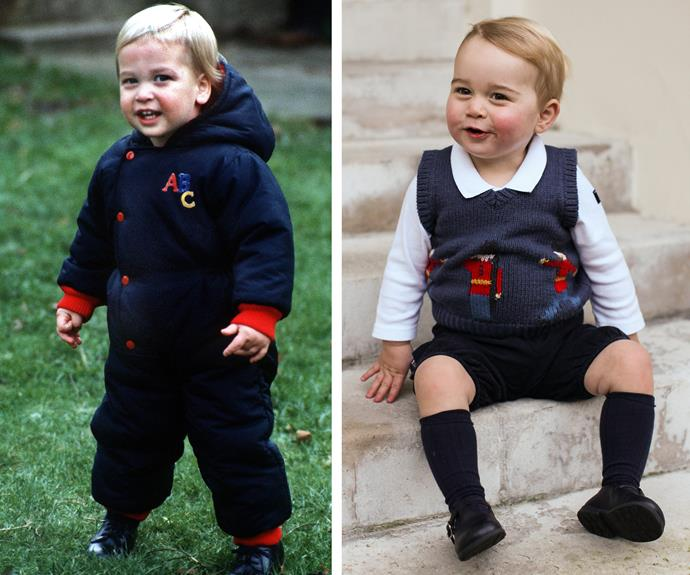 We can't decide who is cuter - baby Prince William or baby Prince George!? They both have angelic blonde locks, cheeky smiles and those ridiculously cute an squish-able cheeks.