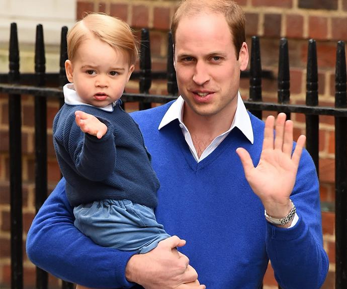 "[The proud papa-of-two](http://www.womansday.com.au/royals/british-royal-family/prince-george-and-prince-williams-cutest-moments-12872) definitely thinks his ""little monkey"" is a character. ""George's pretty loud, but of course very good looking!"""