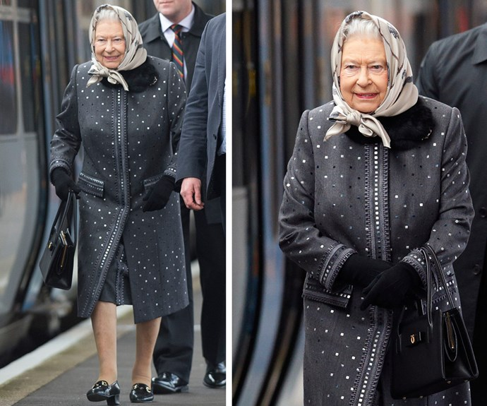 On Monday, Queen Elizabeth travel via train back to London.