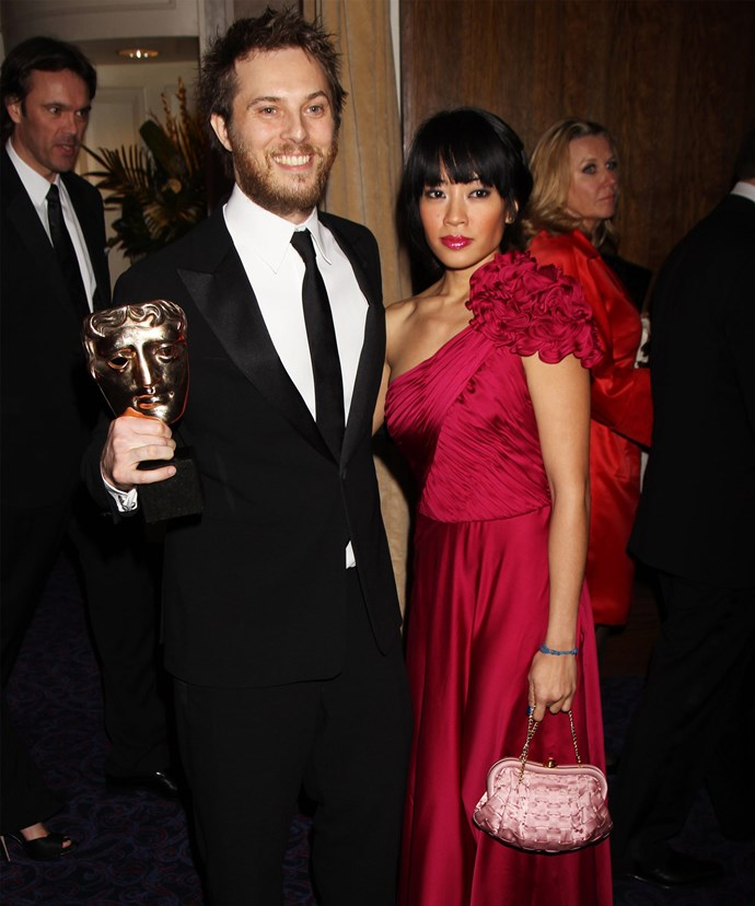 Duncan with his wife Rodene following his 2010 Orange British Academy Film Award win.