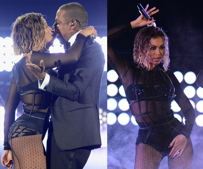 Off with a bang! The crowd went wild in 2014 when [Beyonce and Jay Z](http://www.womansday.com.au/celebrity/hollywood-stars/the-2016-super-bowl-14647) opened the show with a sizzling performance of *Drunk In Love.*