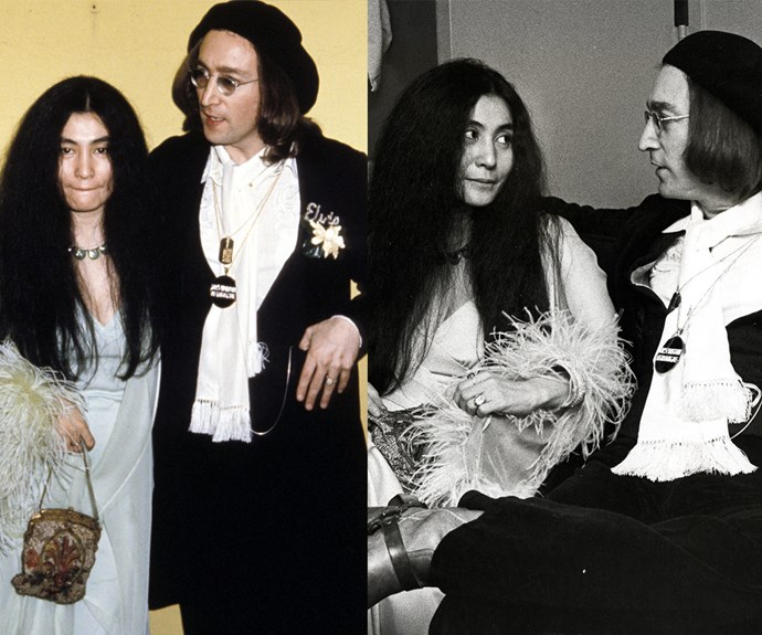 Yoko and John Lennon forever! The look of love was written all over the couples' faces when they attended the award show together in 1975. Sadly, the Beatles star was assassinated just five years later.