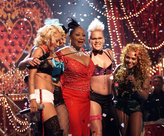 Remember the 2001 banger, *Lady Marmalade*? At the Grammys that year the one-off girl group, made up of Christina Aguliera, Lil' Kim, Mya and P!nk, absolutely owned a live performance of the single.