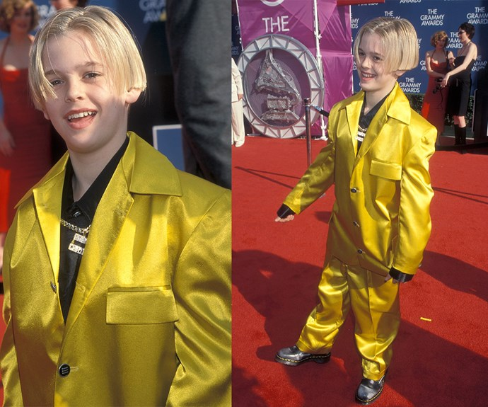 I've got a crush on you! Let's hear if for the time Aaron Carter showed up to the 1999 ceremony in a canary yellow suit which was about three sizes too big.