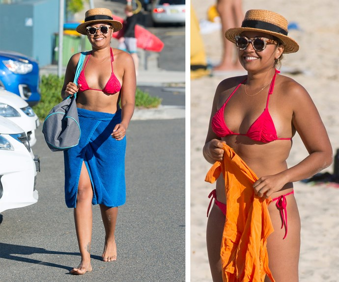Can we get a moment to appreciate the singers incredible bikini body?  Jess credits her smoking hot bod to a clean diet of protein and veggies.
