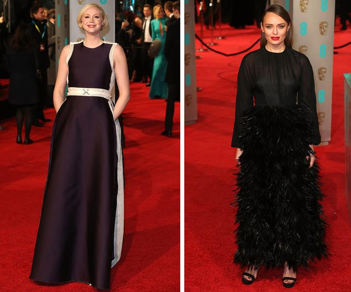 Game of Thrones starlet, Gwendoline Christie was a vision while Laura Haddock, who recently welcomed a baby with her actor husband Sam Claflin, ruffled up the event in a black feather dress.