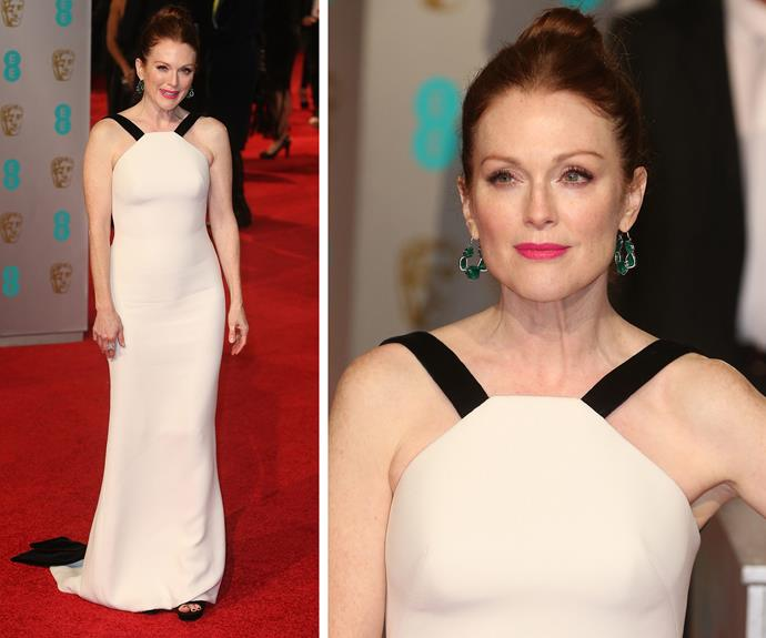 Armani helped showcase Julianne Moore's classic features.