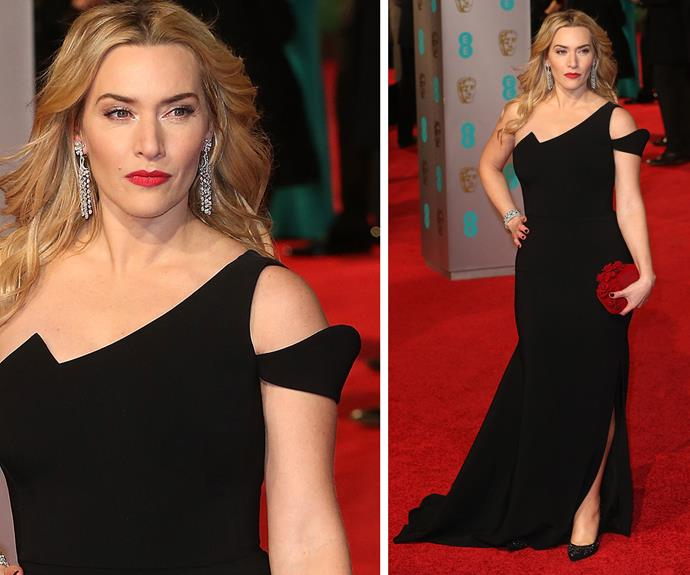 Kate Winslet knows her way around a red carpet. Looking all kinds of perfect, the English rose donned an Antonio Berardi creation.