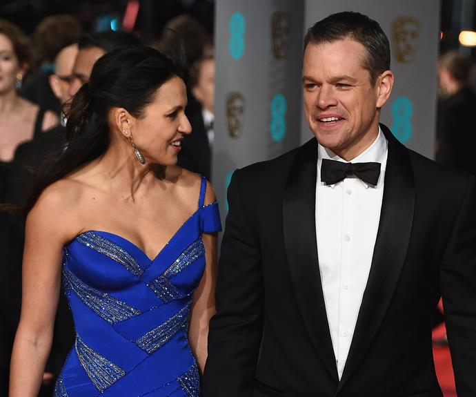 Matt Damon's darling wife Luciana wowed in Versace.
