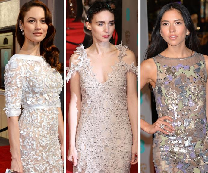 Former Bond girl Olga Kurylenko was a sheer delight in Ralph Lauren. Rooney Mara wowed in her delicate gown while Sonoya Mizuno was a shimmery sensation.