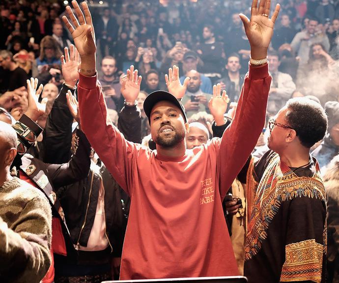 Kanye West at the Yeezy Season 3 Fashion Show