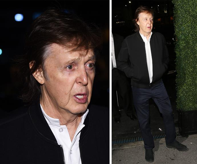 WHAT?! A video captured by *TMZ* shows a confusing moment in which Beatles icon, Sir Paul McCartney was turned away - twice - from a Grammys after party hosted by rapper Tyga at The Argyle in Hollywood.  Check out the video in the next slide!