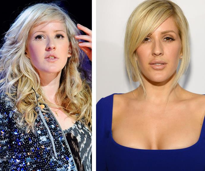 "After Ellie's appearance at the event (R), Twitter was quick to erupt with chatter. ""@elliegoulding no plastic surgery again pls. Never in a million years. Leave it to those who need it. You really don't,"" one user penned."
