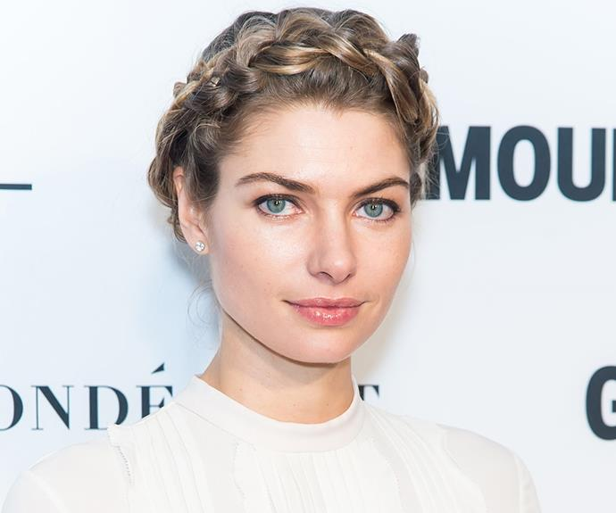 Jess Hart's milkmaid braids are the perfect combination of chic and adorable.