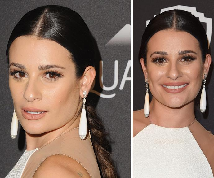 We're loving Lea's middle-parted, slick plait. Perfect for those rushed mornings!