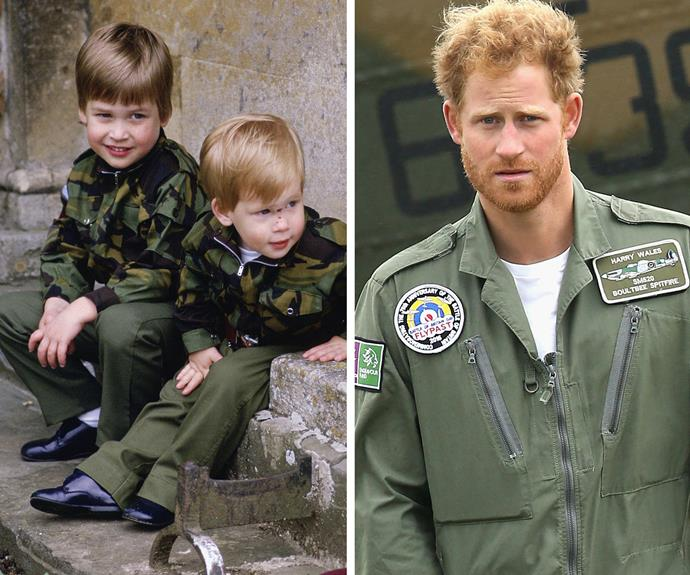 "[Passionate about the armed forces](http://www.womansday.com.au/royals/british-royal-family/after-more-than-a-decade-of-service-prince-harry-ends-his-career-with-the-army-12910), Harry admitted he understood that dangers that came with serving, ""If the guys who are doing the same job as us are being shot at on the ground, I don't think there's anything wrong with us being shot at as well. People back home have issues with that, but we're not special - the guys out there are."""