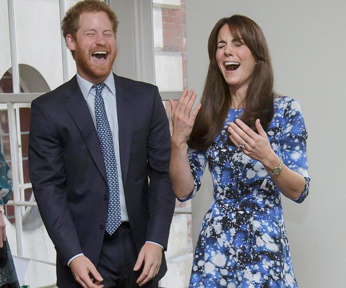 "When Catherine and Harry attend royal functions together, you can rely on them to significantly brighten your day. Harry says, ""To have a big sister is very, very nice...She's a fantastic girl, she really is, my brother is very lucky!"