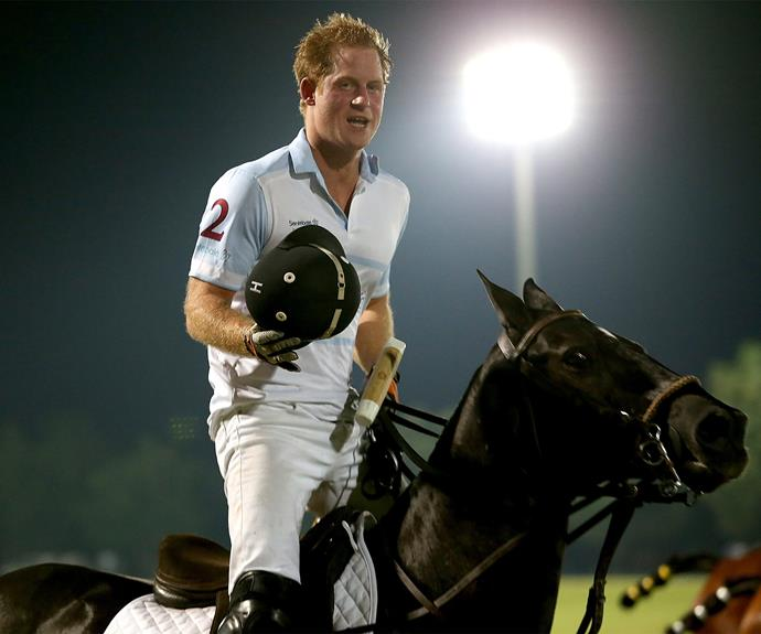 Introducing the polo playing Prince. That's right, Harry... on a horse!