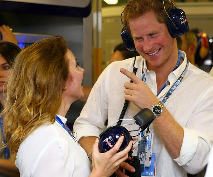 Gingers unite: Of course Harry knows who to spice it up with Geri Halliwell.