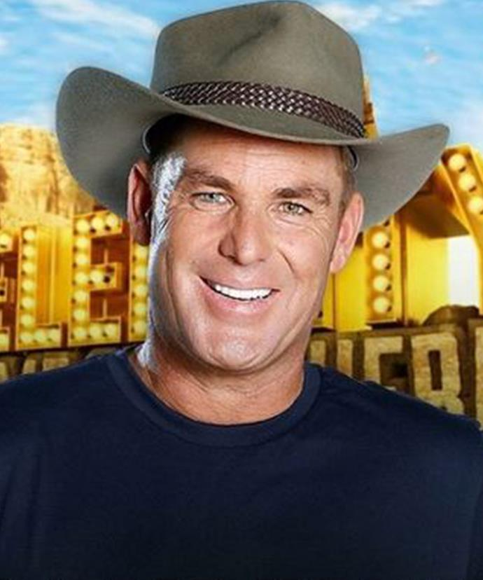 Shane Warne came off second best to an anaconda in the South African jungle.