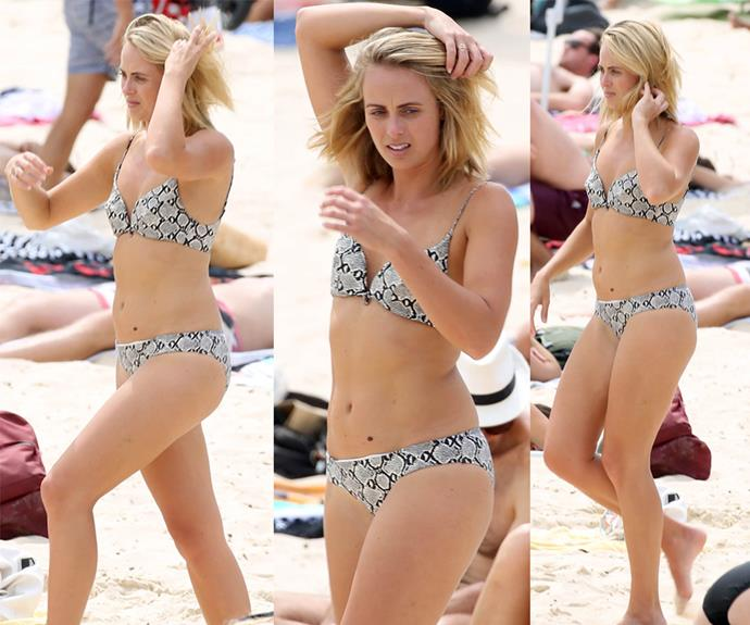 *Today Show* star Sylvia Jeffreys looked amazing as she hit Bondi Beach in Sydney recently.