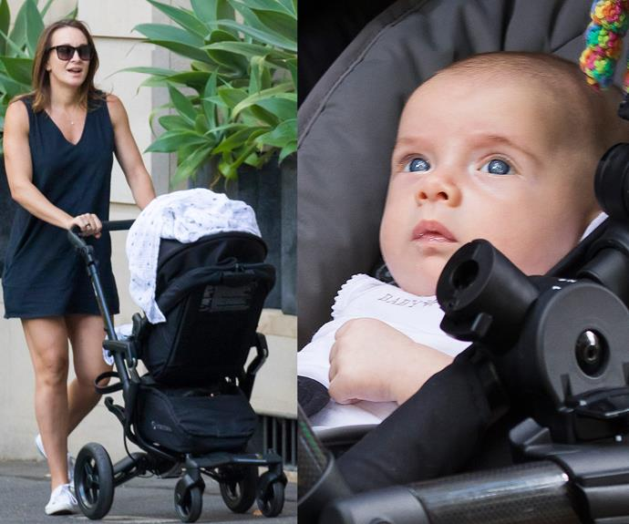 *The Biggest Loser* couple [welcomed their son on December 19](http://www.womansday.com.au/celebrity/australian-celebrities/michelle-bridges-introduces-baby-axel-14519) last year and he's certainly grown over the past few months.