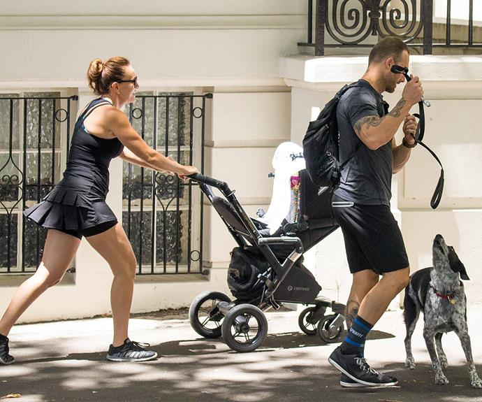 "The fitness guru told *AWW* in January that motherhood is ""the best thing I've ever done."""