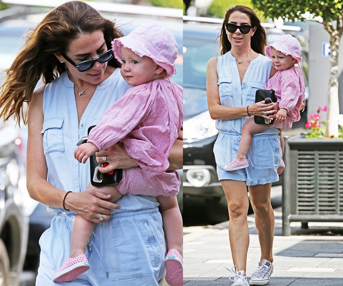 Kate Ritchie and her daughter Mae soaked up the sunshine during a stroll around Sydney recently.
