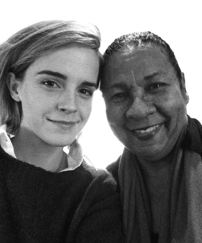 Emma Watson, 25, pictured with Bell Hooks, 63.