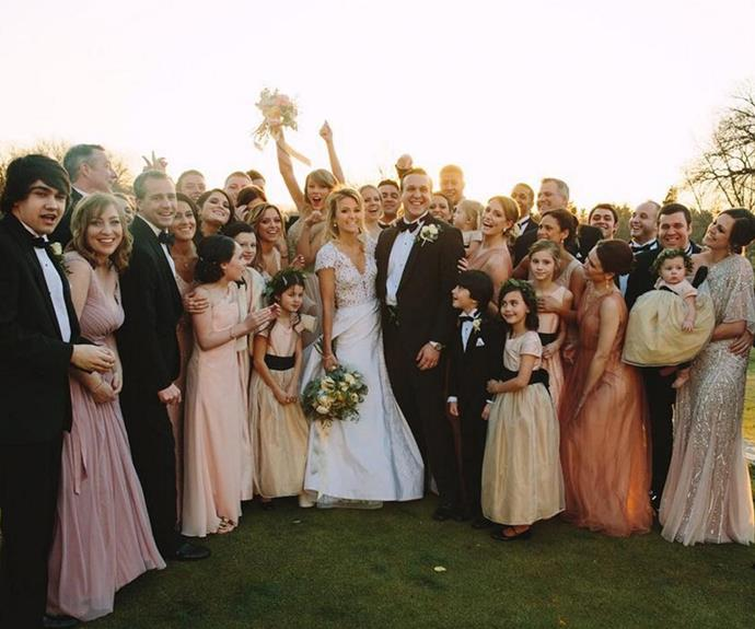 The wedding looked like it was a blast.