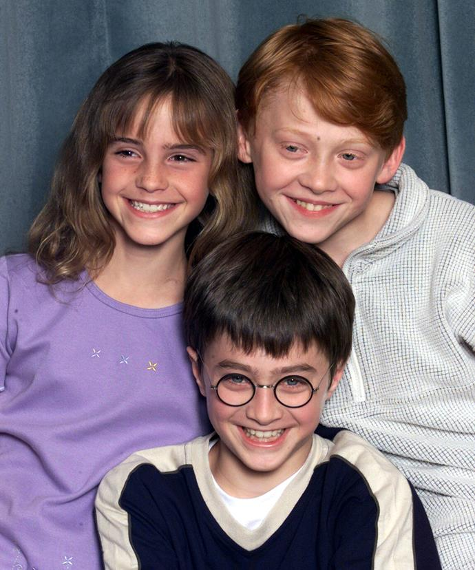 Blast from the past! Emma pictured with her Harry Potter co-stars back in 2000.