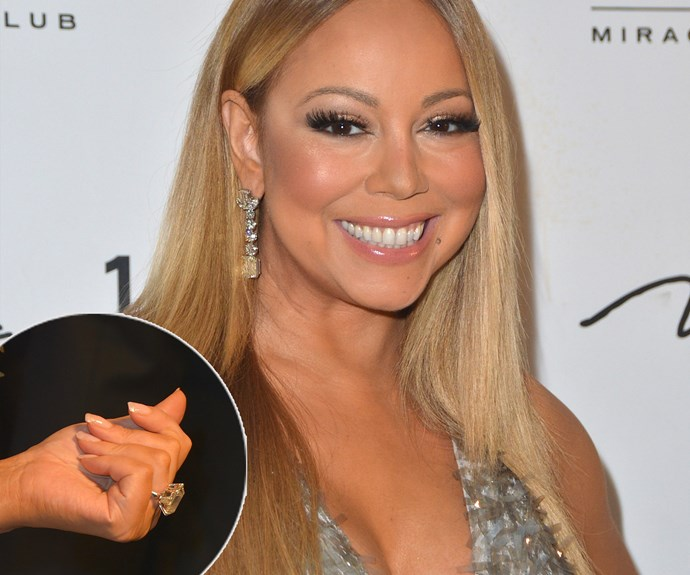 Mimi sure knows how to accessorise with her Roberto Cavalli metallic mini dress. The 45-year-old's ring - which was given to her by her billionaire fiancé James Packer - is worth a casual $7 million.