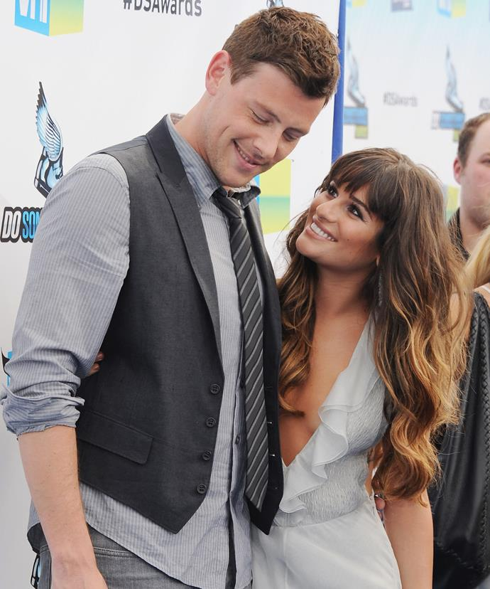 Cory and Lea share a loved-up moment in 2012.