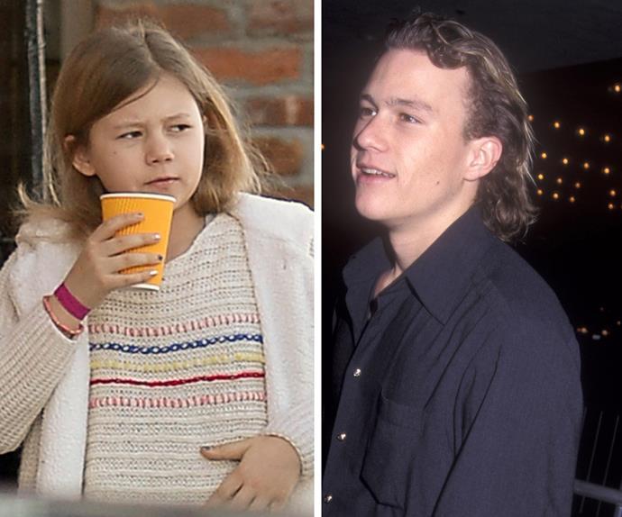 Heath and Matilda Ledger