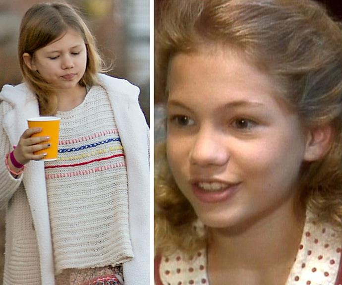 While the pretty blonde is Heath's doppelganger, Matilda is also morphing into a young Michelle. The duo share that same cute button nose.