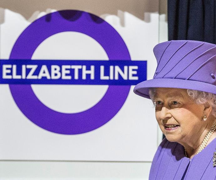 The Crossrail, which will span from the east to the west of the nation's capital city, is still under construction. But that didn't stop [the 89-year-old from](http://www.womansday.com.au/royals/british-royal-family/prince-william-and-duchess-catherines-date-night-14666) coordinating her coat and hat with the purple colour of the new line!