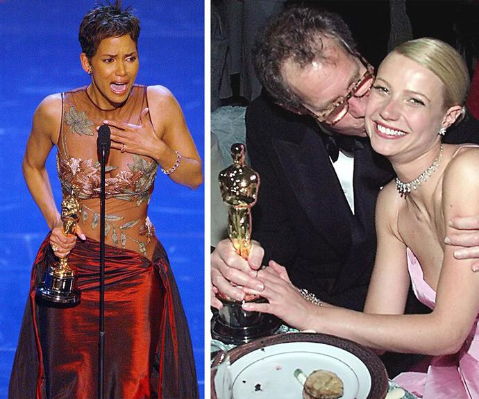 "The Oscars may deliver some of the finest fashion, but the night is a celebration of the industry's brightest stars. Breaking barriers, Halle Berry is the only African American actress to win the Best Actress trophy at the Academy Awards back in 2002 for her role in *Monster's Ball*. ""This moment is so much bigger than me. This is for every nameless, faceless woman of colour that now has a chance because this door has opened."" Meanwhile Hollywood sweetheart Gwyneth Paltrow made the auditorium sob with her emotional speech for her 1999 Best Actress win for her role in *Shakespeare in Love.*"