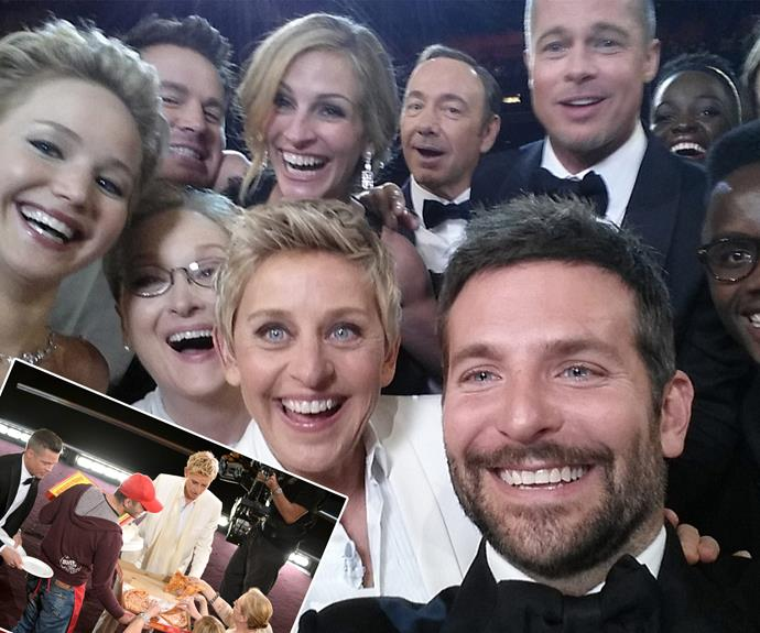 Ahhh, the time Ellen broke the internet thanks to a slice of pizza and one very fab selfie back in 2014.