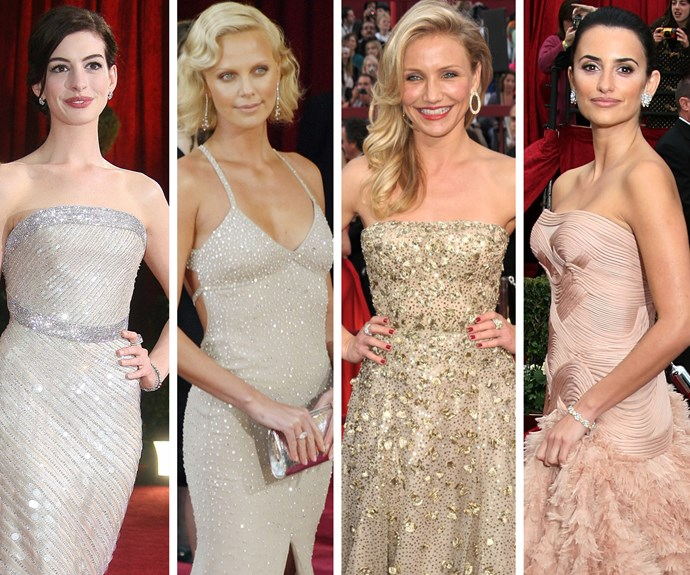 All that glitters: Anne Hathaway, Charlize Theron, Cameron Diaz and Penelope Cruiz ruffle the red carpet with shimmering delights.