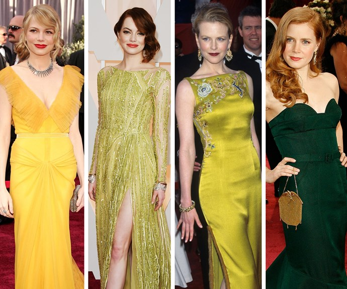 Bold and beautiful: Michelle Williams, Emma Stone, Nicole Kidman and Amy Adams have been red carpet stand-outs.