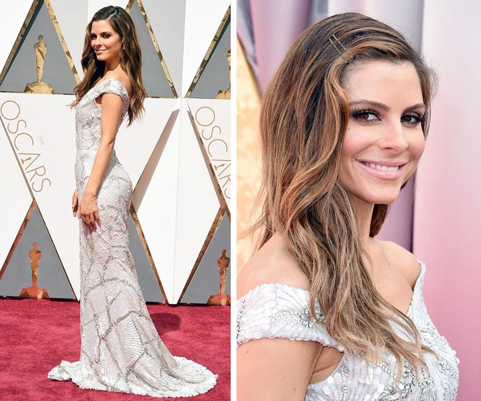 Maria Menounos sparkled in this figure-hugging creation.