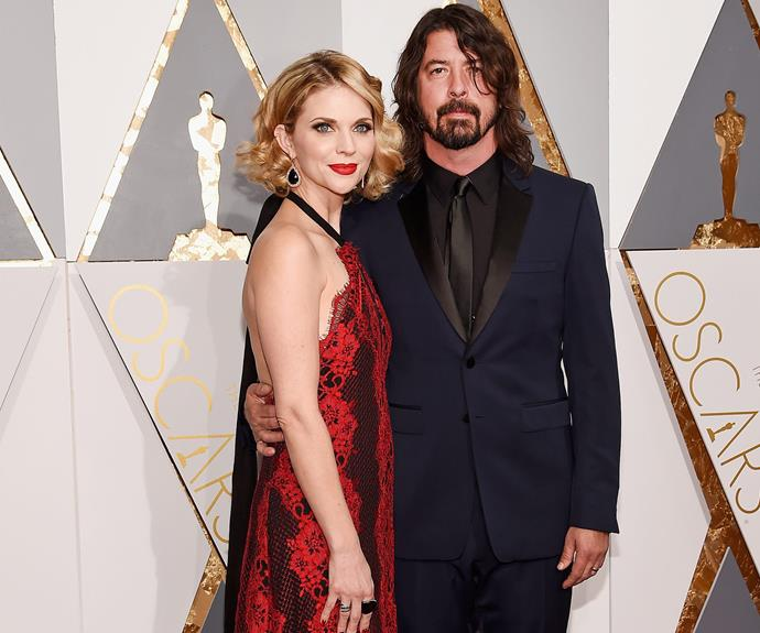 Dave Grohl was joined by his wife, Jordyn Blum.