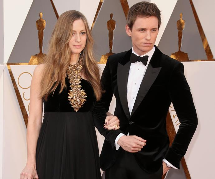 "Ladies and gentleman, Best Actor nominee Eddie Redmayne and his pregnant wife Hannah Bagshaw looked flawless in coordinating black ensembles. ""For me it was about meeting men and women from the Trans community,"" Eddie said of preparing for his inspiring role in *The Danish Girl.*"