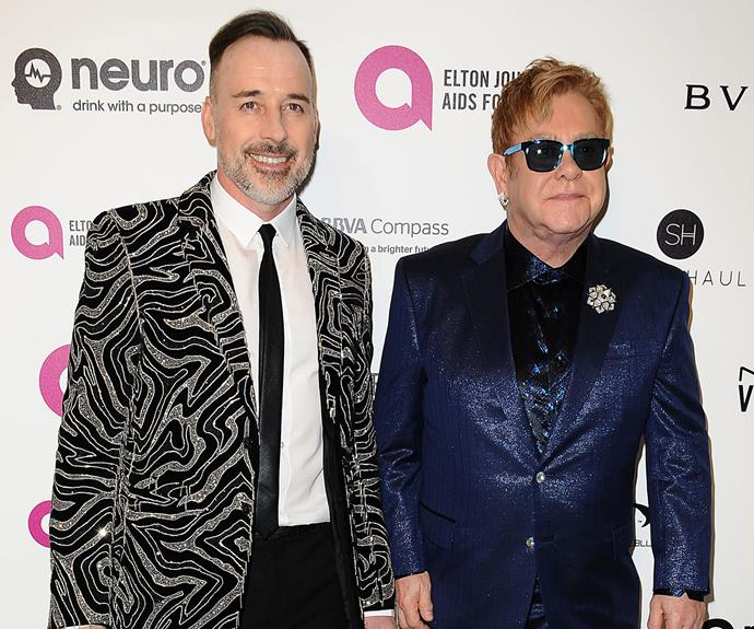 David Furnish and Elton John are hosting the 24th Annual Elton John AIDS Foundation's Oscar Viewing Party in West Hollywood.
