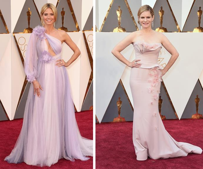 Heidi Klum and Jennifer Jason Leigh both looked amazing.