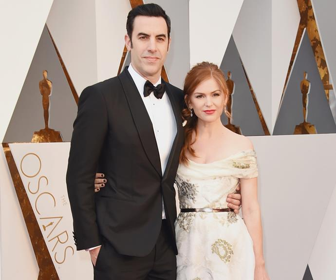 She was joined by her comedian hubby Sacha Baron Cohen.