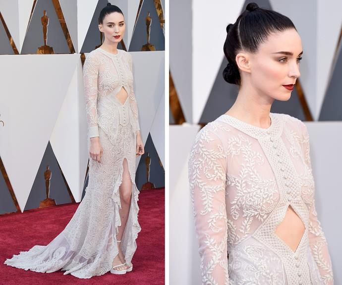 Rooney Mara always brings the dramatic glam!