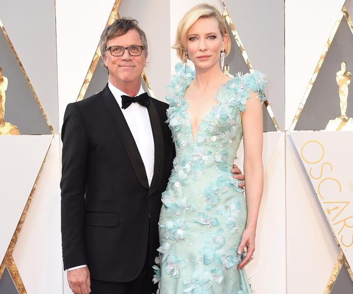 The star posed up with the *Carol* director Todd Haynes.
