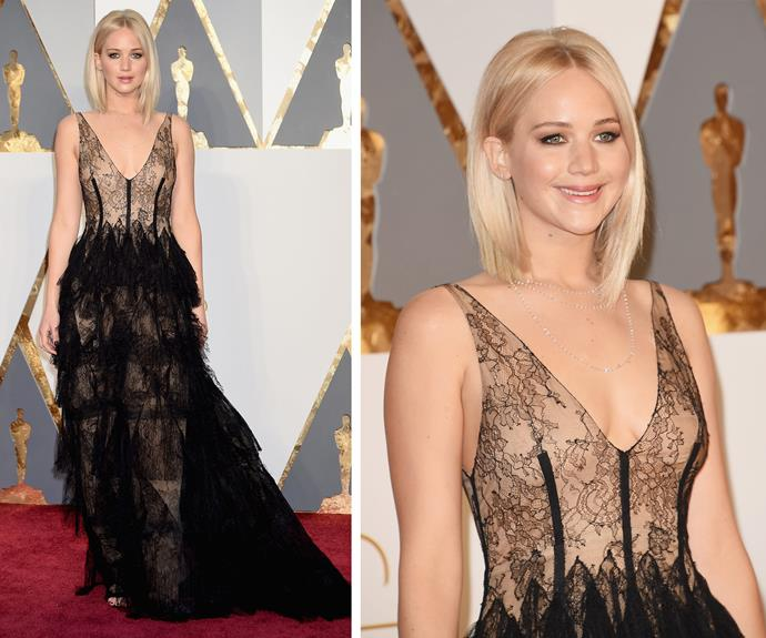 Wow! Jennifer Lawrence is the epitome of sophistication.