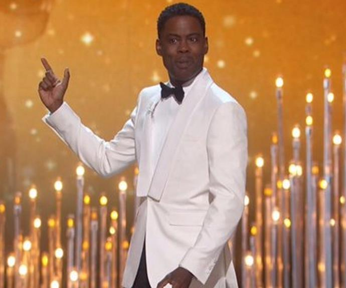 Chris Rock is hosting for the second time.